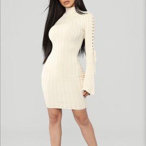 Next To Me Knit Dress: Ivory